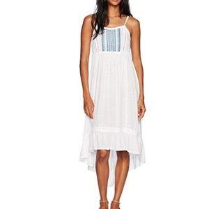 White Far Out Hi-lo Maxi Dress